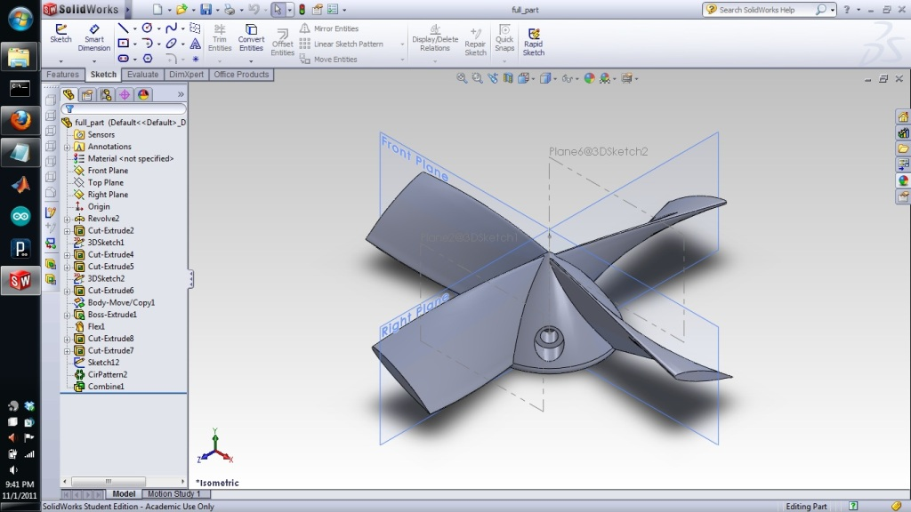 Project: Design and 3D Printing of a Propeller