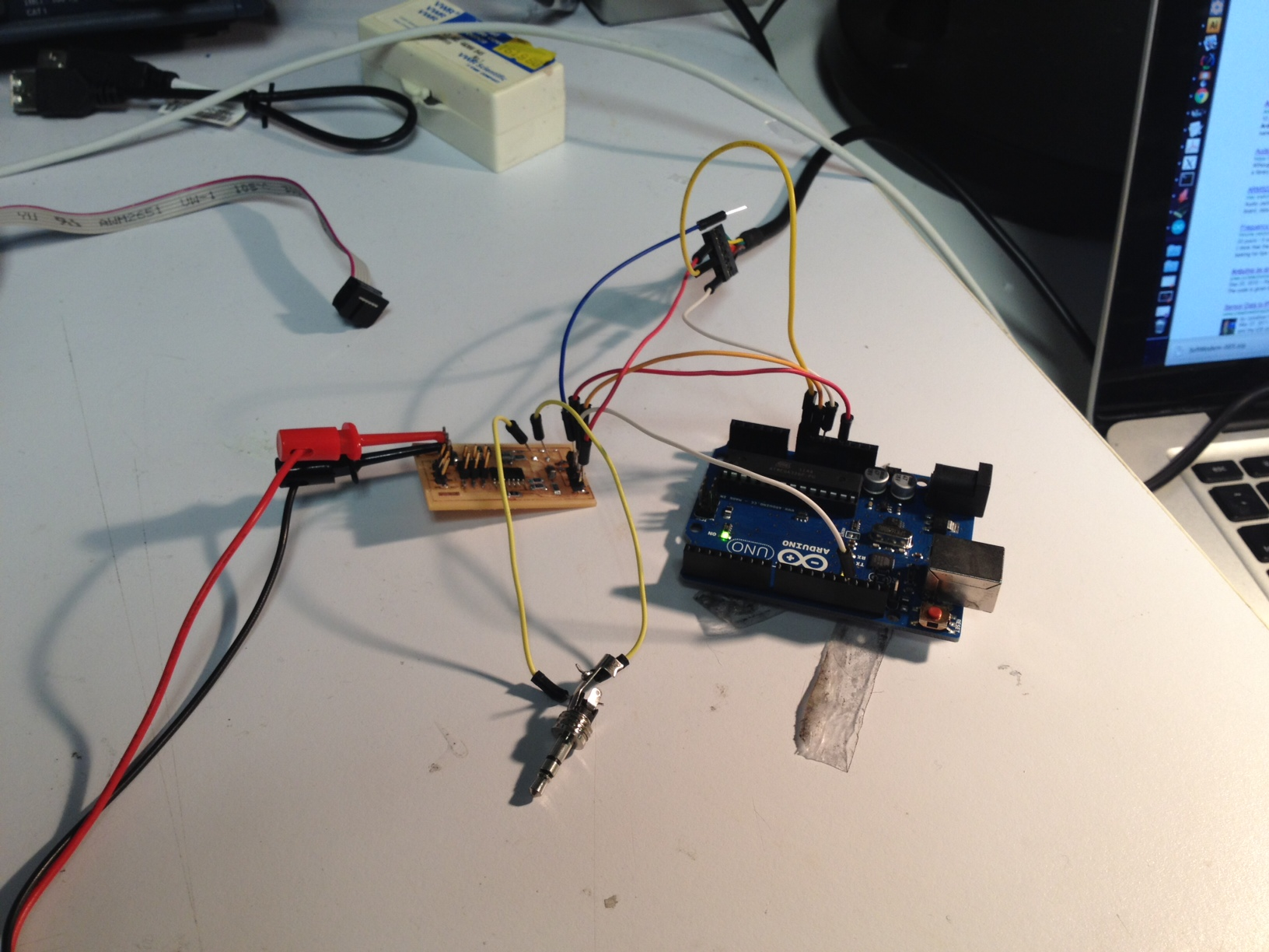 Adam Marblestone Audio Using A Microphone With An Arduino Electrical Engineering Here The Ftdi Cable Supplies Power To Which Creates 33v Vin Signal For Tiny44 Board And Also Ground Rs232 Serial Rx