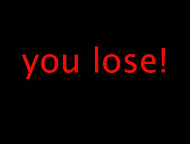 lose on