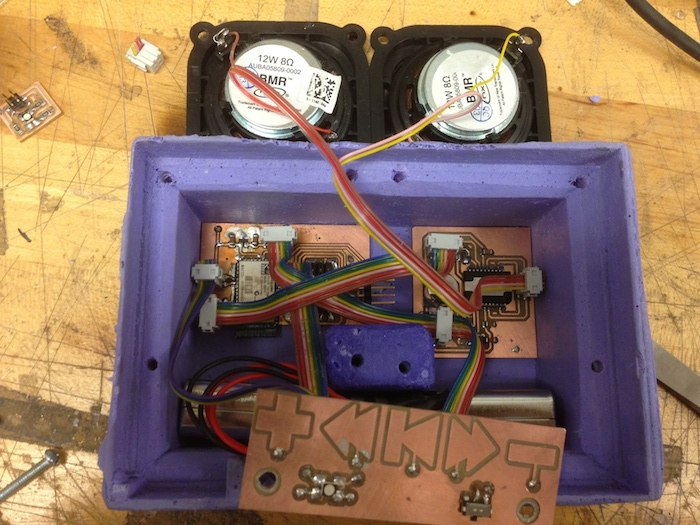The enclosure with just electronics