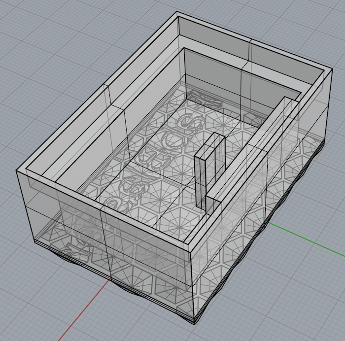 The top view of the designed case