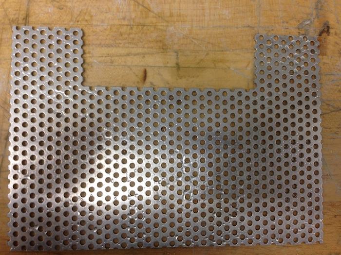 The cut aluminum sheet