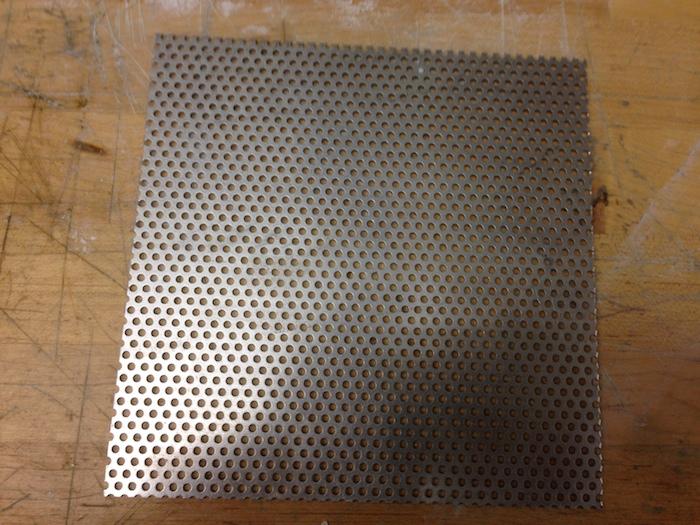 The uncut aluminum sheet