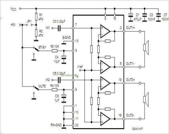 The TDA7297d Amplifier