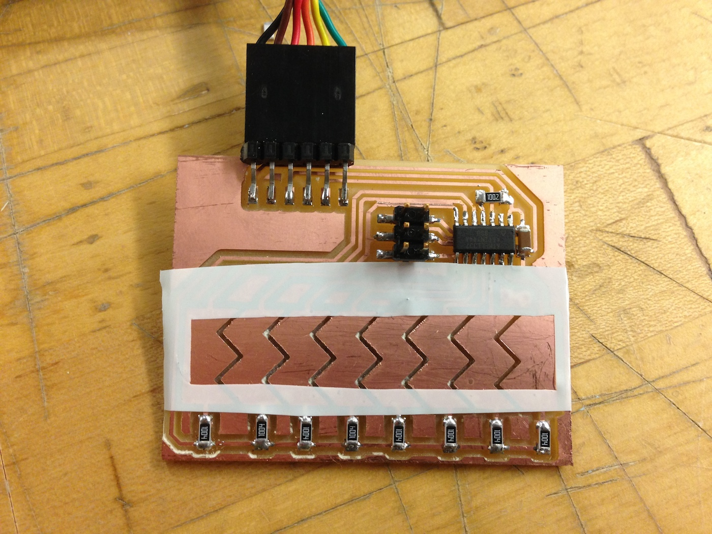 The touch sensor from week 9