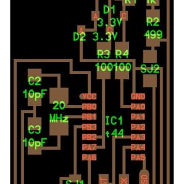The circuit design for FabISP