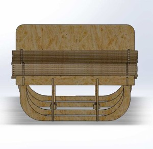 Parametric Sleeping Cot Front