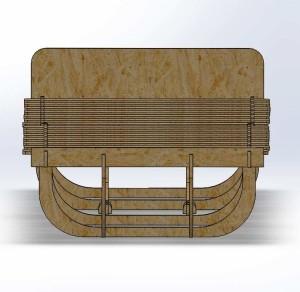 Parametric Sleeping Cot Front