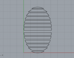 Made a design in Rhinoceros of a circle interesection with overlapped blinds.  I was able to calculate the design for each slat this way