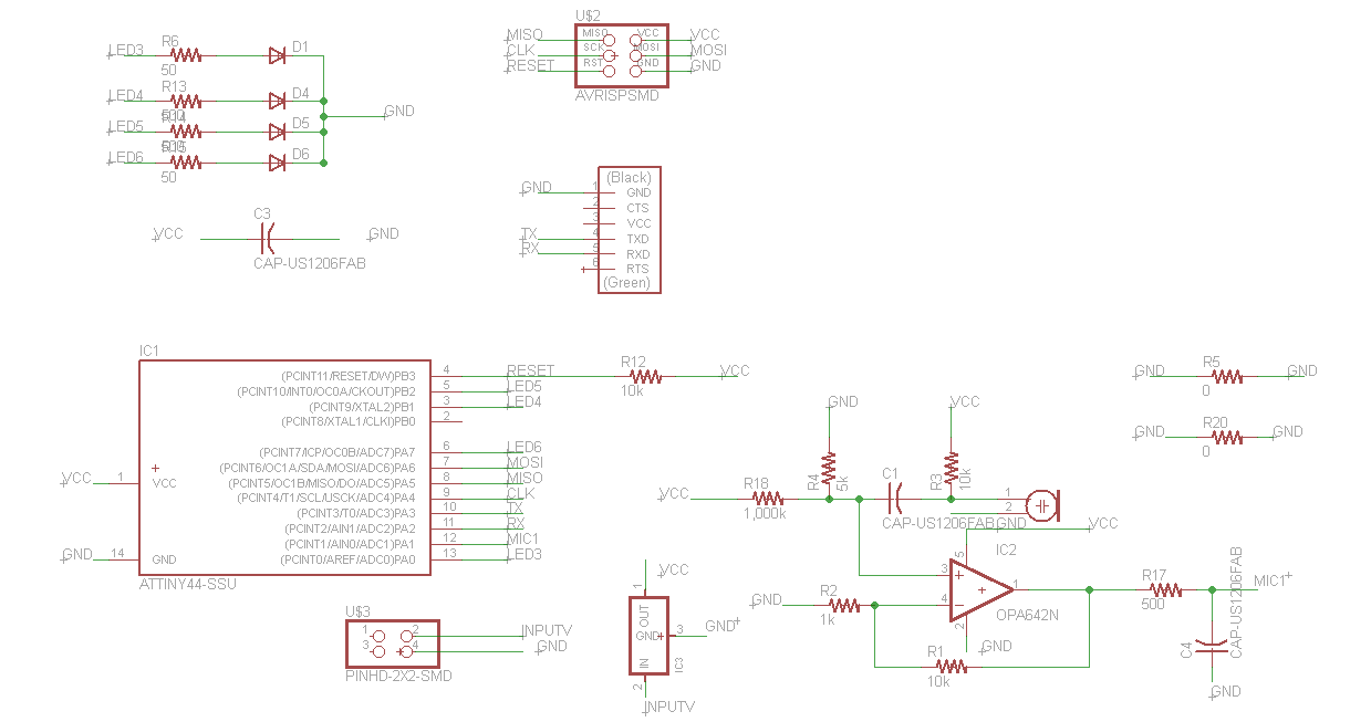 Final Project Classroom Microphone System Circuit Board