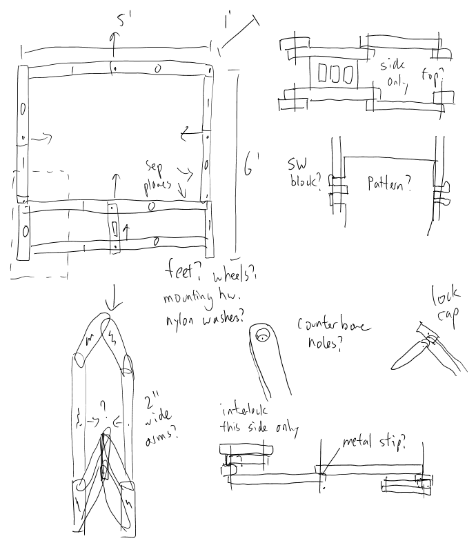 Folding Table Schematic