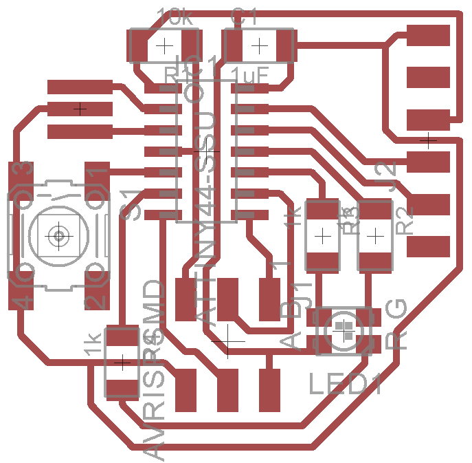 week pcb design if you re using the cree plcc4 3 in 1 smd led clv1a fkb note the r and b pins are actually switched from the diagram above it doesn t really matter for