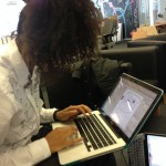 Shantell working in Omnigraffle before switching to illustrator to fill in the whitespace.