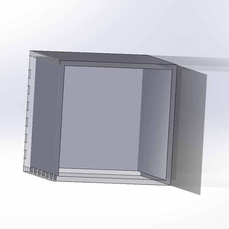 SolidWorks assembly of the cube.