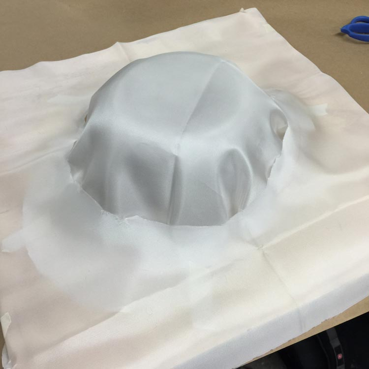 First layer on the mold is a 'release plastic'