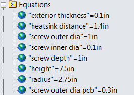 Equations defining the enclosure.