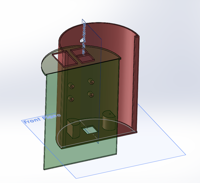 The final SolidWorks model.