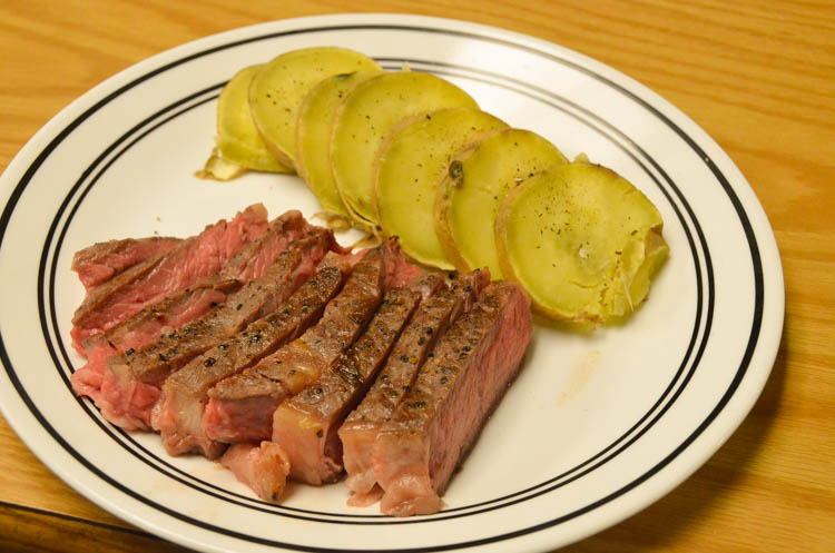 Steak and sweet potato medallions -- the perfect way to celebrate the end of a semester!