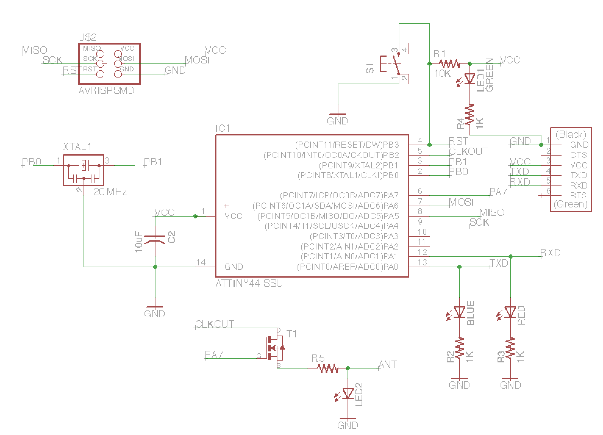 Week 6 - Electronic design with Eagle Eagle Schematic on