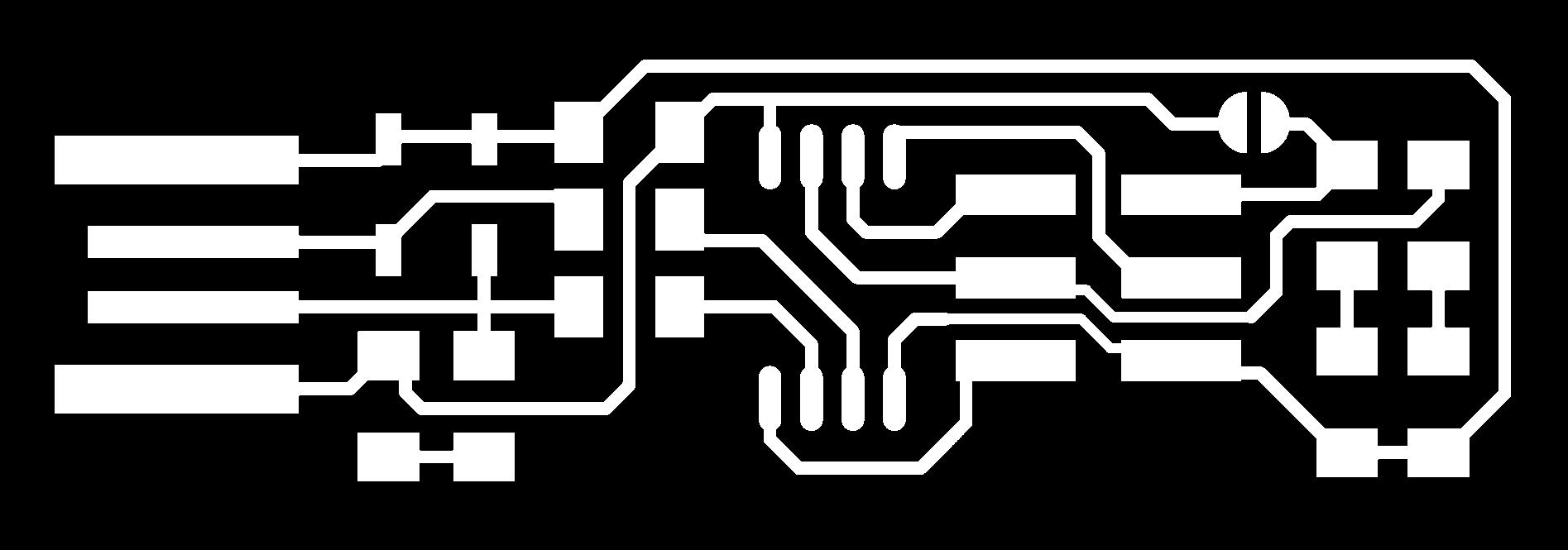 Building The Fabtinyisp Atmega Programmer Usb Pcb Component Side Traces 1000 Dpi