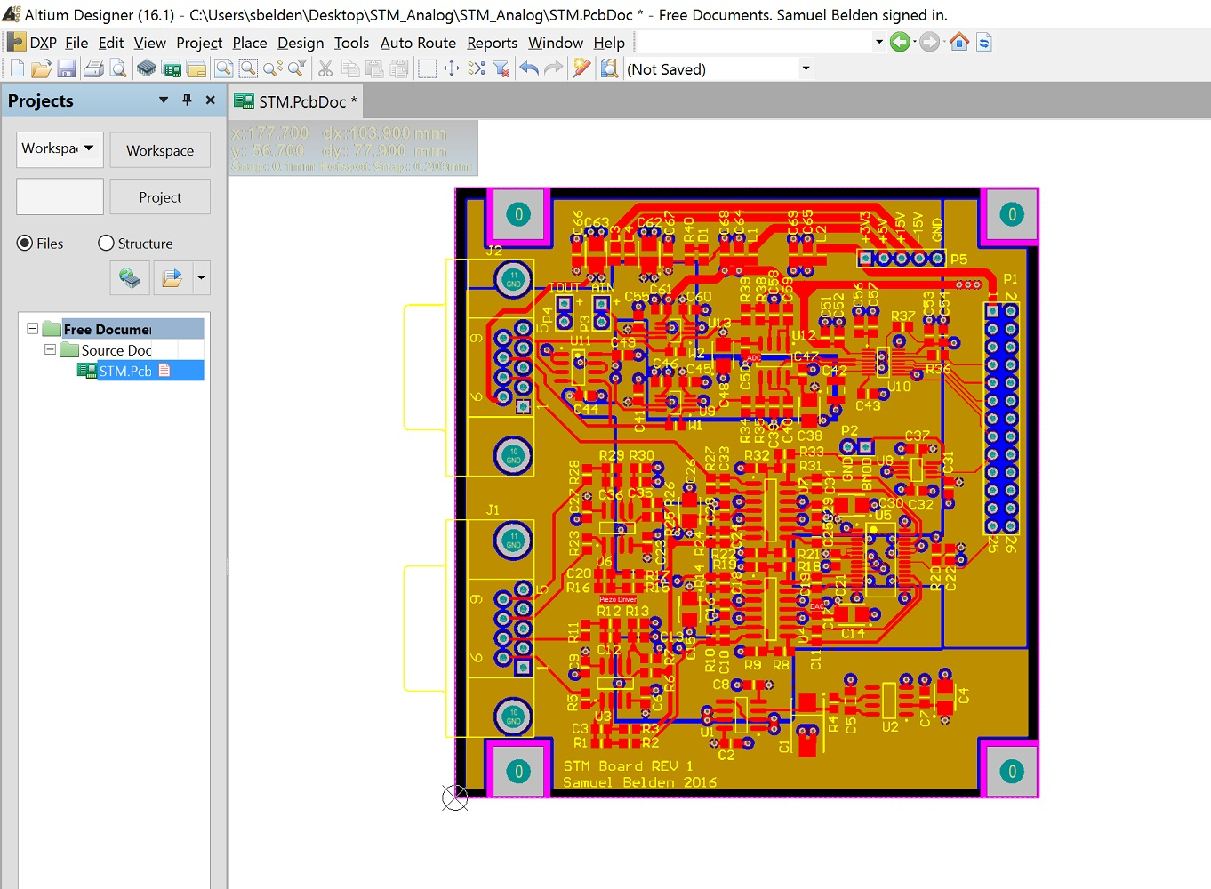 Samuel Belden How To Make Almost Anything Colorful Geometric Shapes Circuit Board Pattern Square Wall Clock This Surprisingly Actually Works Pretty Well The Scanning Data Tunneling Current And Output Z Axis Height Change Are Send Over Usb Pc C Program