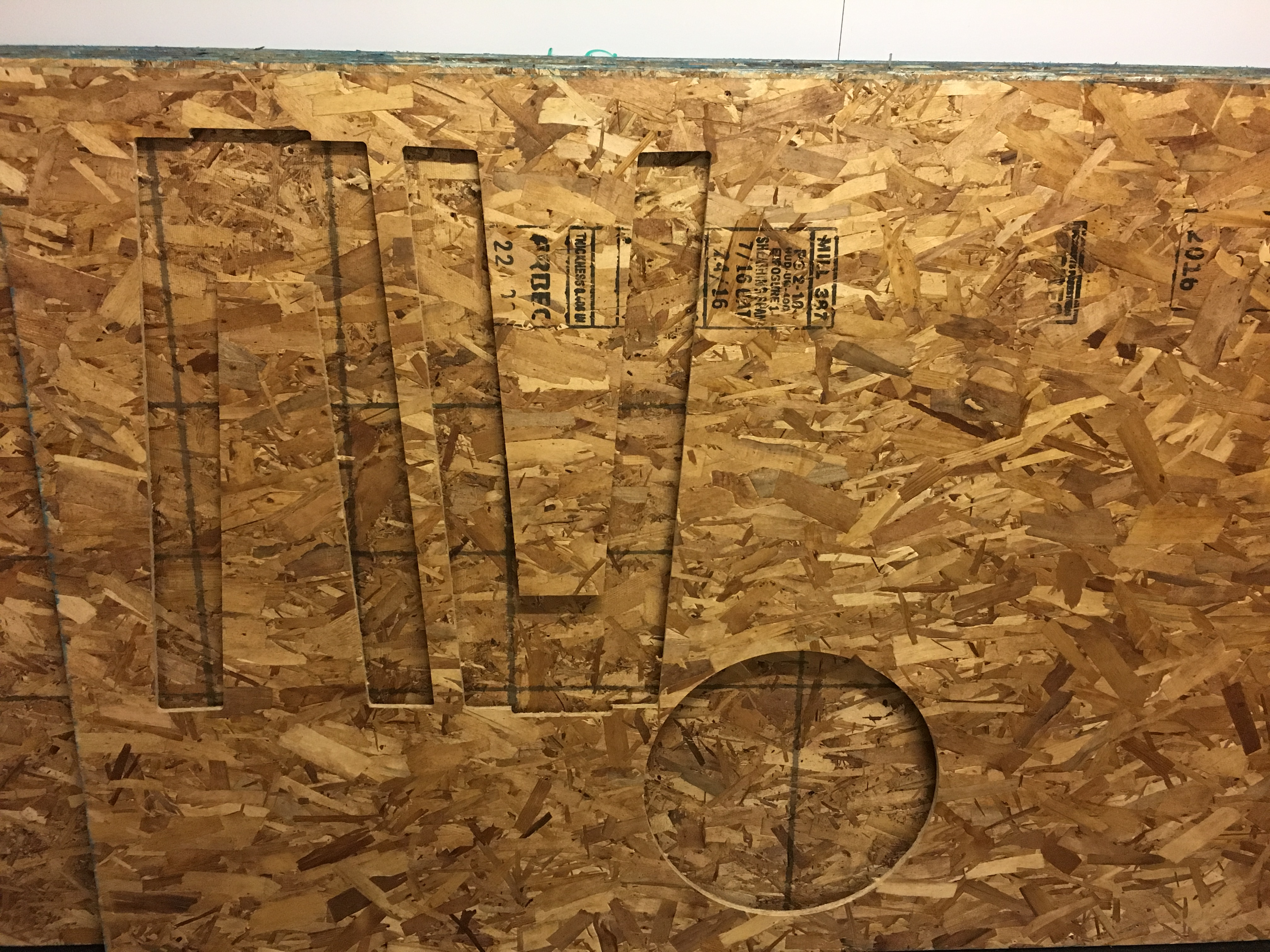 Outline cut plywood
