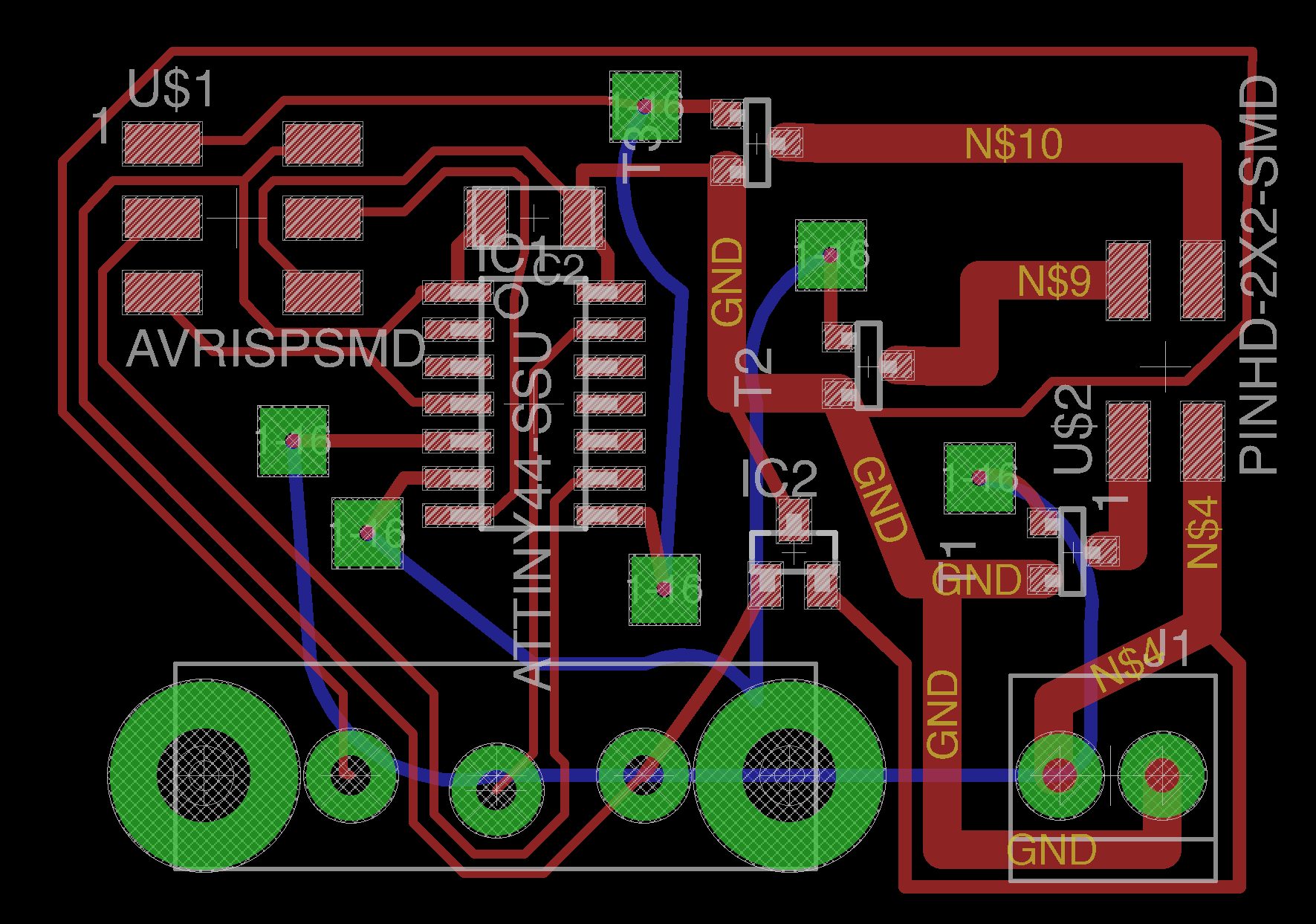 Kevin Kwok How To Build Your Own Power Supply Maxembedded I Gave Up On Routing Certain Wires So Added A Bunch Of Jumpers By Treating Them As Vias
