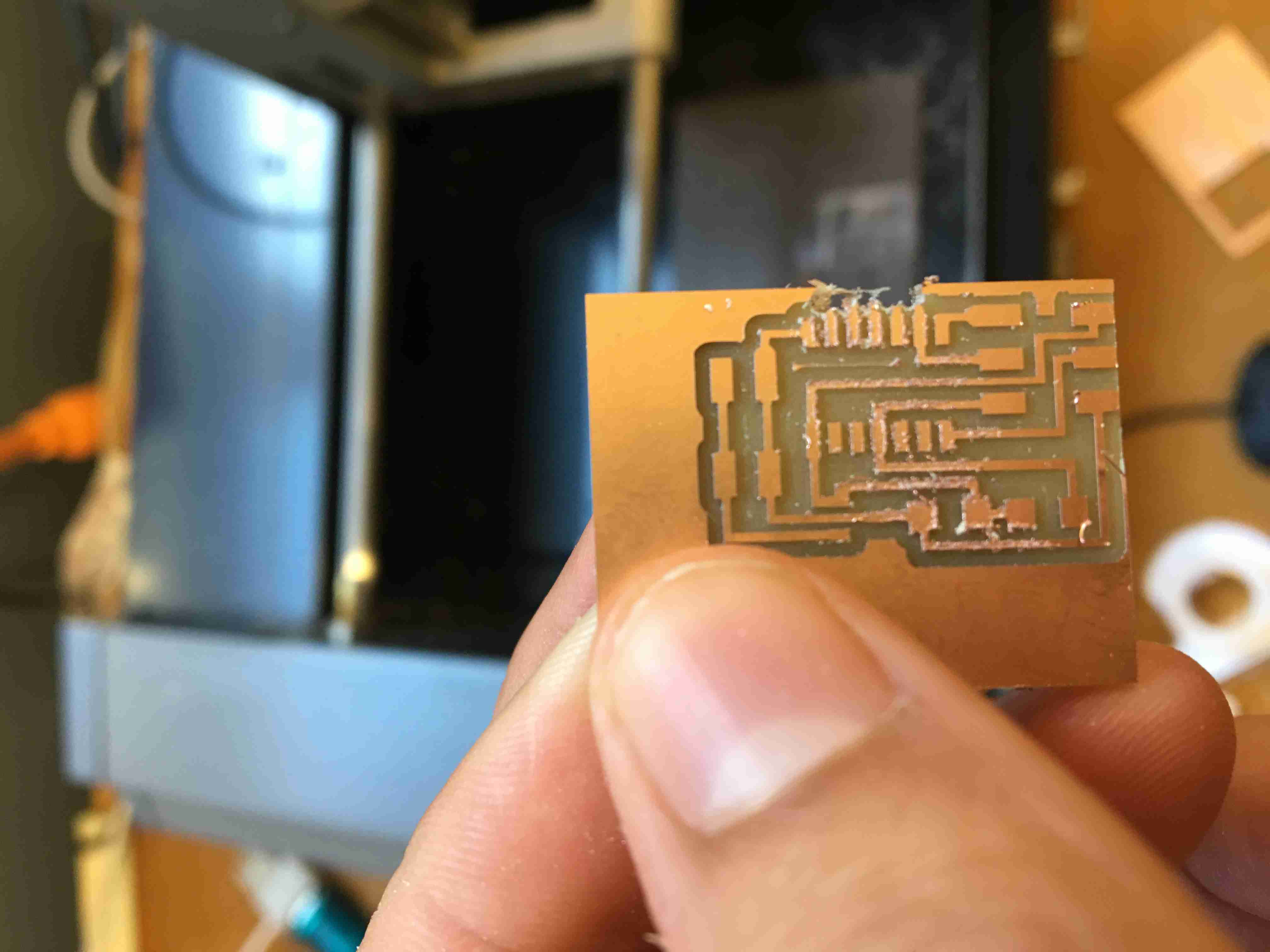 Harnek Gulati Laser Cutting Machine For Printed Circuit Boards With Inline Measuring We Started Out Milling The Board I Wanted To Try Backside But It Became Really Tough