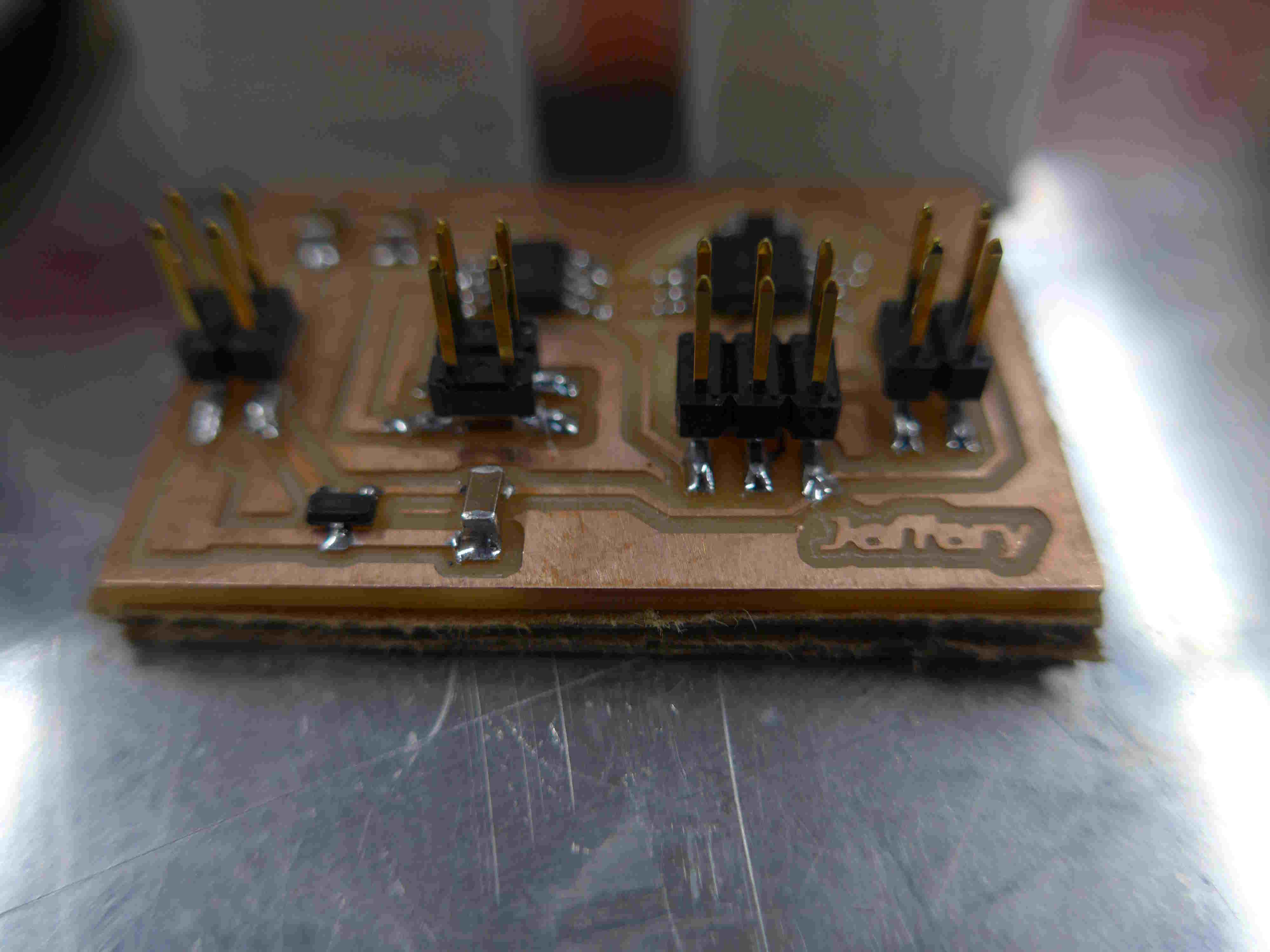 Circuit Board Under The Waterjet Ready To Be Sliced Pieces Jeffery Makes Almost Anything And Here Is Colletcion Of Boards All Attached