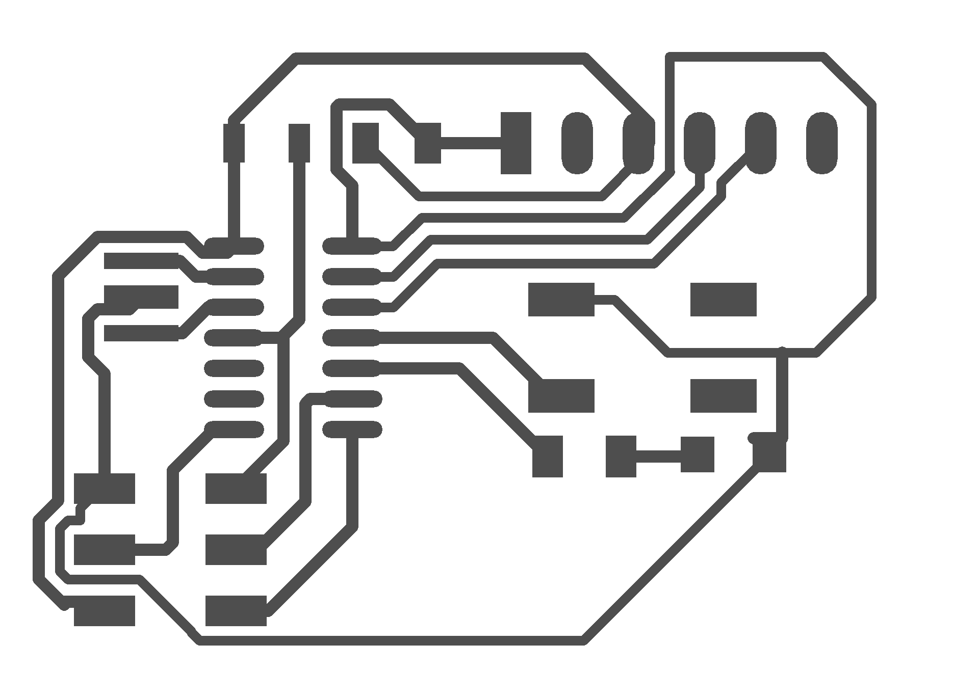 Week 4 Electronics Circuit Maker Schematic To Pcb After A Few Processing Steps I Can Turn Circuitmaker Gerbers Into Fully Supported S For Milling By Fab Modules Above Is The Traces Board